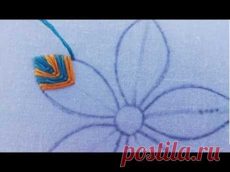 beautiful flower with two  colors ( beads work)