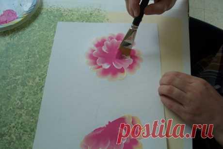Цветочная картина акриловыми красками — Сделай сам, идеи для творчества - DIY Ideas