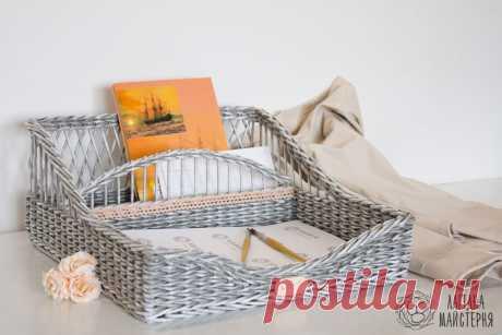 Видео мастер-класс: плетём из бумажных трубочек прямоугольную корзину | Журнал Ярмарки Мастеров