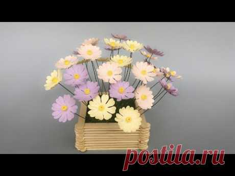 ABC TV | How To Make Daisy Paper Flower With Shape Punch #1 - Craft Tutorial