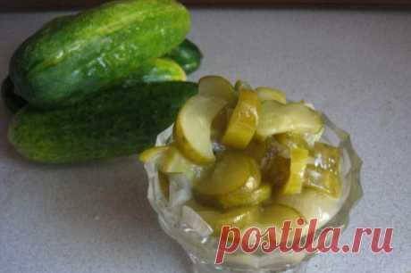 Салат из огурцов на зиму. Готовим «Нежинский» хрустящий салат