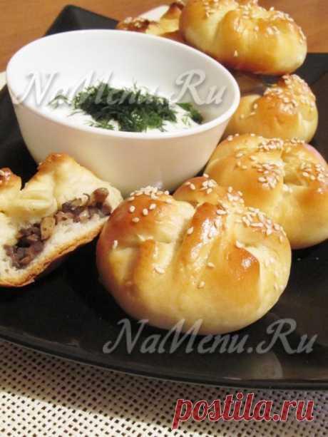 Пирожки с грибами в духовке, пошаговый рецепт с фото