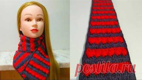 Женский шарф крючком. Как связать шарф крючком для начинающих пошагово