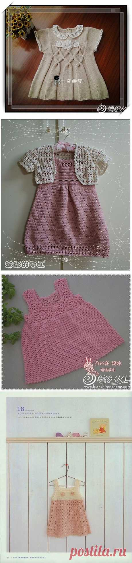 Связать красивое платье для девочки..