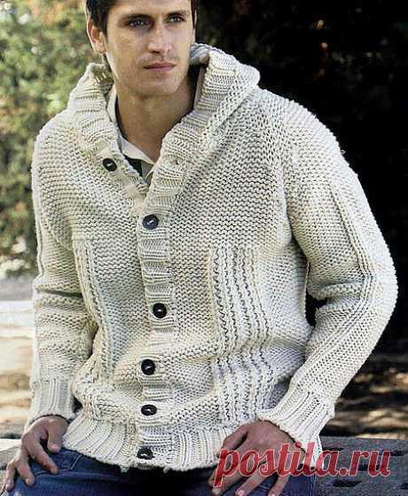 Мужская куртка с капюшоном.
