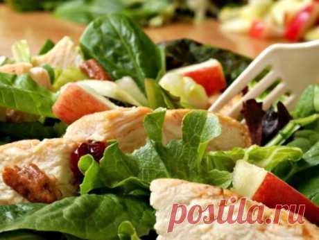 Салат из курицы: просто, вкусно, а главное – некалорийно / Простые рецепты
