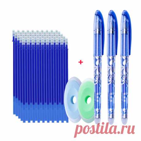 55 шт./компл. стержни для заправки цветных чернил, стираемые стержни 0,5 мм, волшебная гелевая ручка, моющаяся ручка, офисные, школьные канцелярские принадлежности для письма| | | АлиЭкспресс