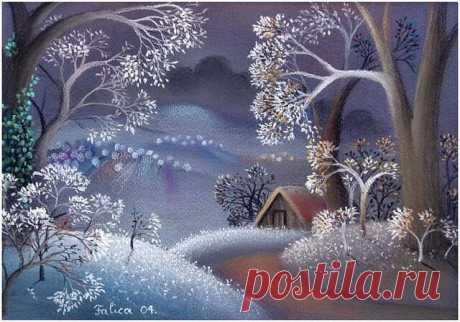 Пусть у каждого сбудется своя замечательная зимняя сказка! Удивительный сказочный мир! Художник Josip Falica, Хорватия!