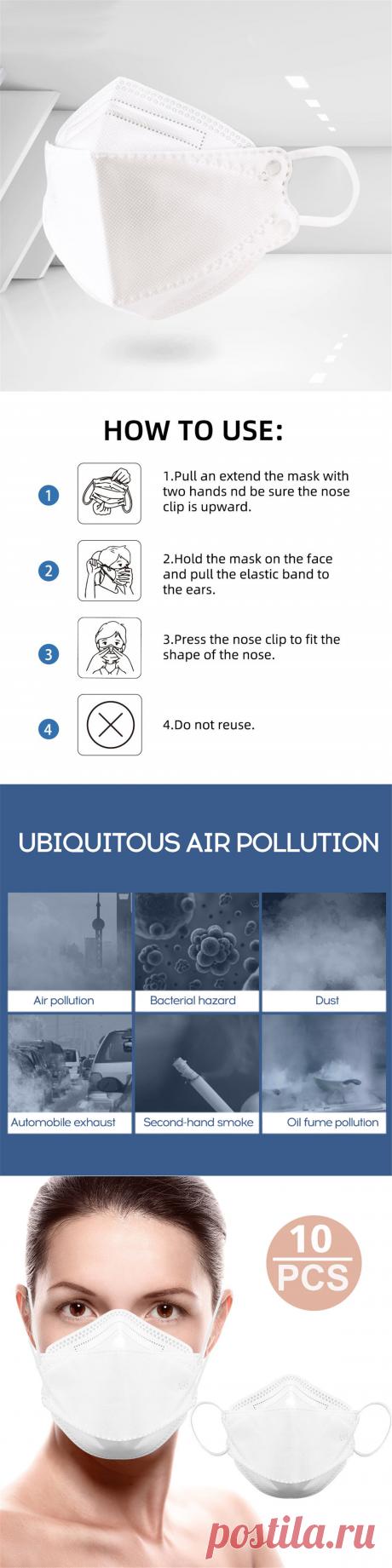 10pcs 95% anti air pollution face mask protection respirator at Banggood