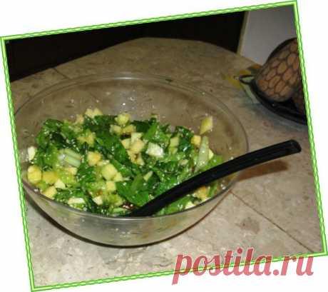 Салат с зелёными яблоками Зимний