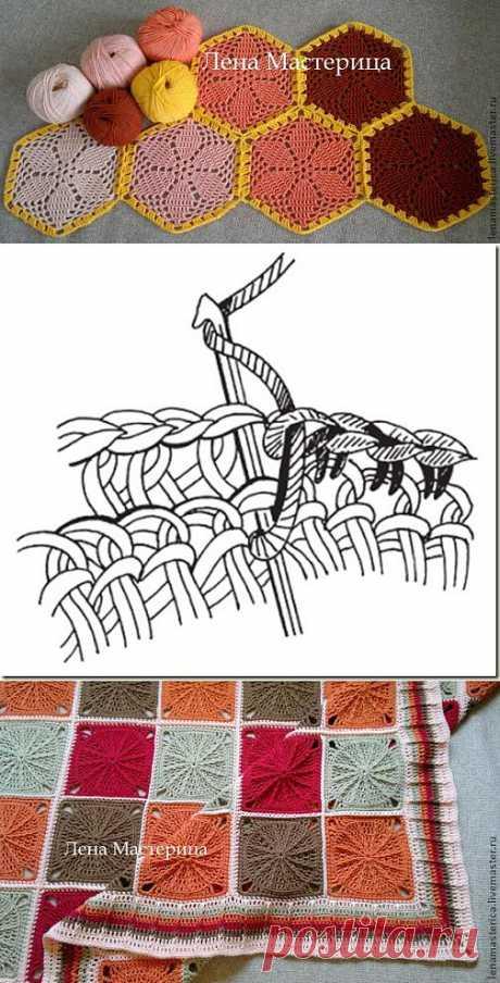 Рекомендации по соединению мотивов, выбора пряжи и крючков для вязания пледа - Вязание крючком