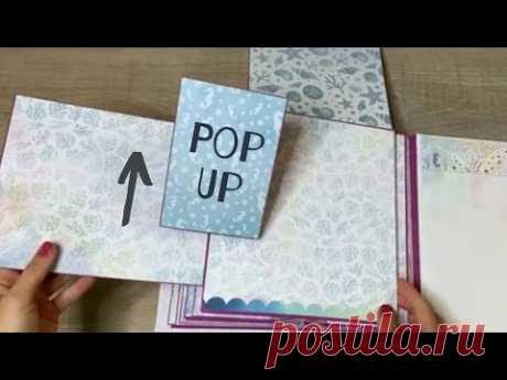 Pop Up Card for Scrapbook Page | Tutorial | Standing Card