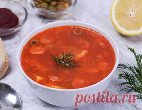Солянка с сосисками - рецепт приготовления с фото от Maggi.ru