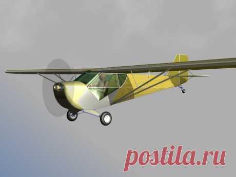 Проект двухместного самолета повышенной дальности полета. Круизный лайнер :-)