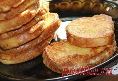 Рецепт сырных гренок от Вероники Крамарь.
