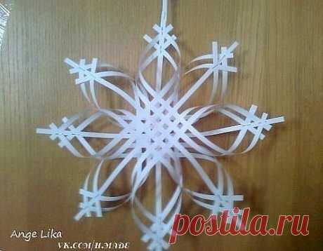 Объёмная снежинка из бумаги. Мастеркласс