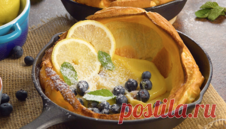 """Оригинальный десерт """"Голландская детка"""": готовим блины в духовке и добавляем начинку"""