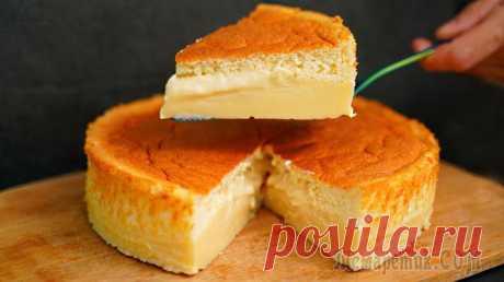 Волшебный пирог – при выпечке сам разделяется на бисквит и заварной крем!