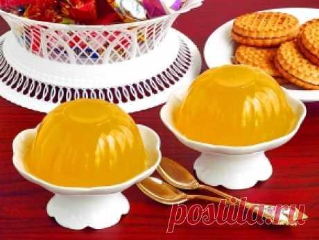 Лимонно-медовое желе
