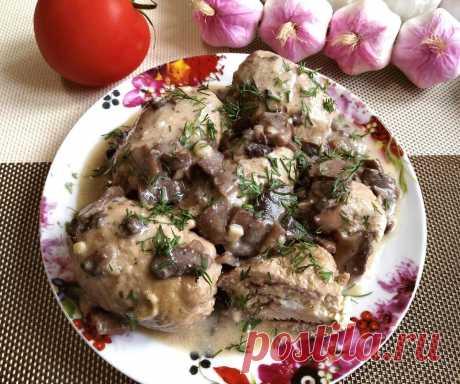 Вкусное мясное блюдо по фирменному рецепту моей свекрови. Я всегда прошу приготовить её двойную порцию соуса - Рецепты для дома