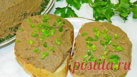 Вкусный и нежный паштет с говяжьей печенью