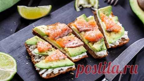 Бутерброды с авокадо и лососем — Sloosh – кулинарные рецепты