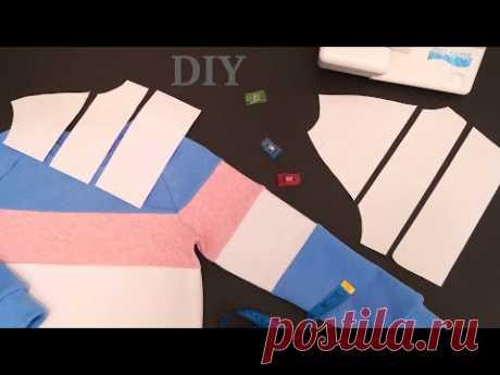 Как рассчитать в каком месте начнется полоска другого цвета на рукаве #Колорблок #DIY