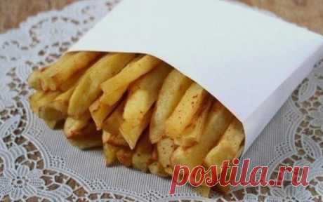 Картофель фри без масла - Кулинарные Рецепты