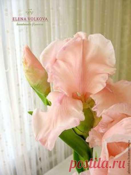 """Букет ирисов """"Принцесса Востока"""" - цветы из полимерной глины,цветы ручной работы"""