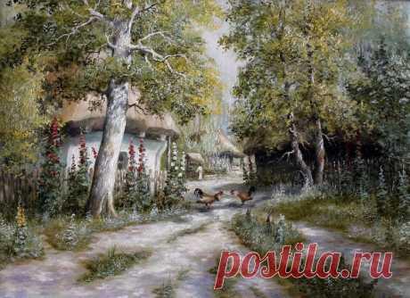 Наш вернисаж...Знакомьтесь-худ.-самоучка Юрий Пацан и его восхитительные сельские пейзажи...