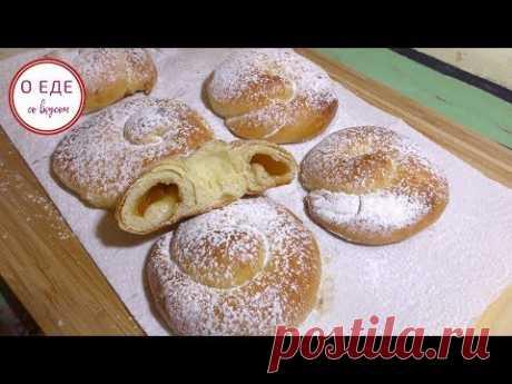 Мягкие, нежные испанские булочки! Слоеные  булочки с джемом! - YouTube