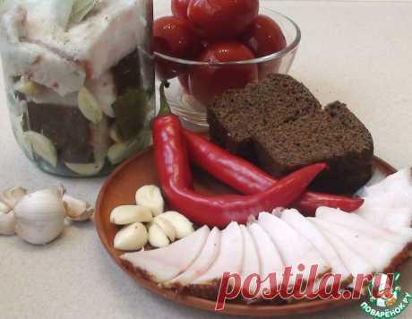 Сало в банке с чесноком – кулинарный рецепт