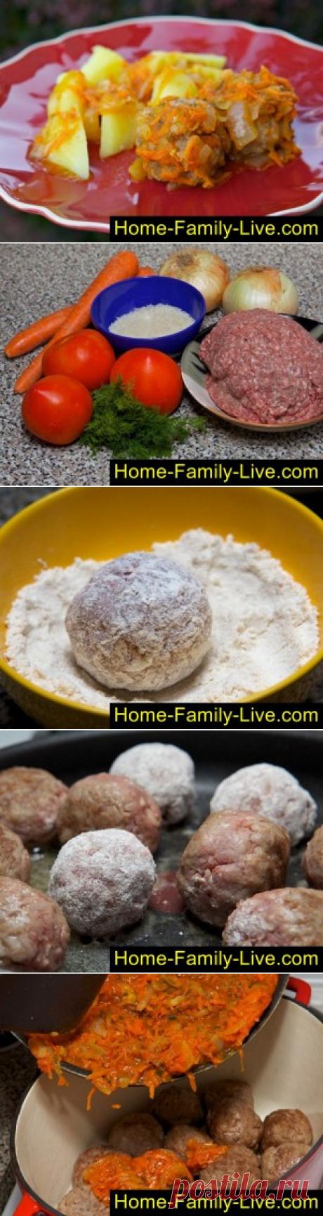 Фрикадельки в соусе - пошаговый фоторецепт - мясные ёжикиКулинарные рецепты