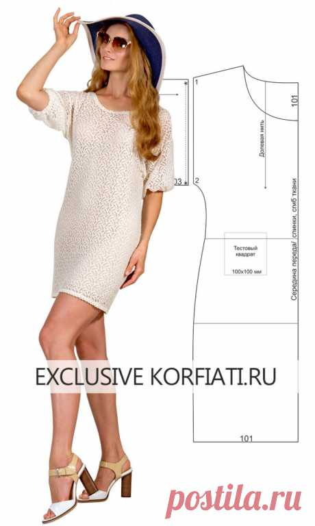 Выкройка ажурного платья от Анастасии Корфиати