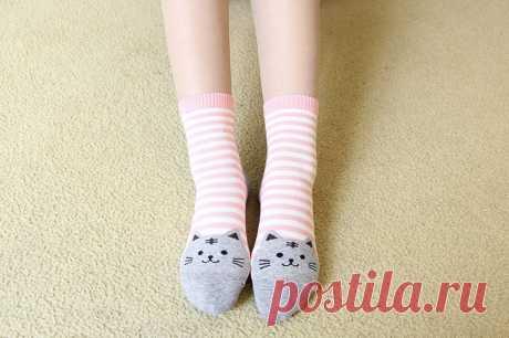 Все-хлопчатобумажные носки _ осень зима японский мультфильм носки женщины-кошки цветные полосы приграничного горячая продажа женщин носки дышащий хлопок носки оптом Алибаба