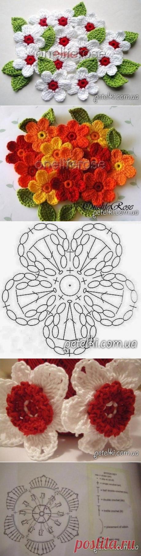 Decorative flower napkin. Schemes