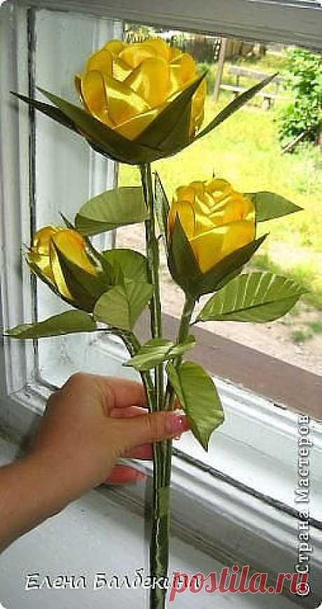 Цветы из лент. Роза. #рукоделие