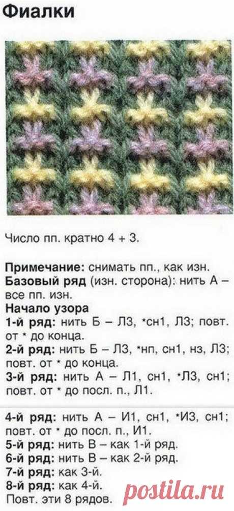 Color patterns spokes (four beautiful patterns with the description)