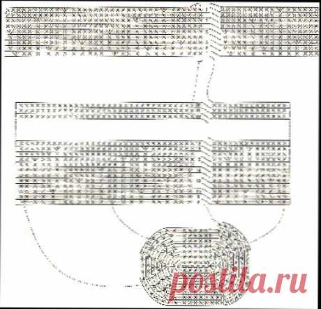 Вязаная крючком сумка, аксессуары, схема вязания, фото, описание