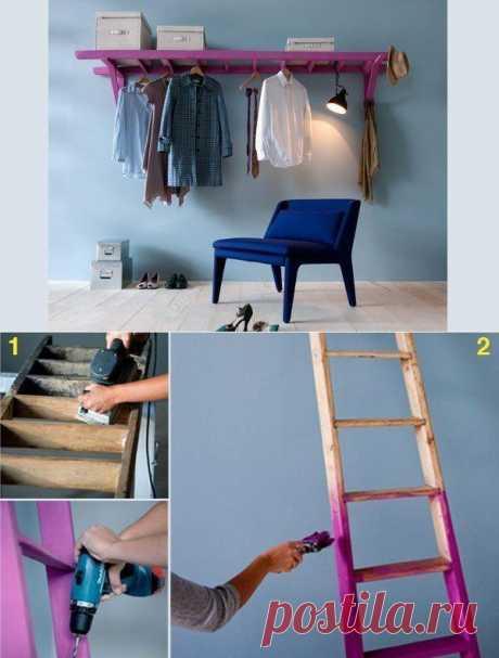 Как применить старую лестницу не по назначению