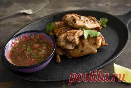 Курица гриль в духовке на решетке по-мексикански – пошаговый рецепт с фото.