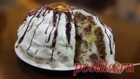 Торт Панчо: сметанный крем и прослойка ананасов прекрасно сочетаются с пышным бисквитом - Скатерть-Самобранка - медиаплатформа МирТесен