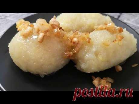 Литовские ЦЕППЕЛИНЫ-одно из наивкуснейших блюд в мире.Zeppelinas Hackfleischklöße.Zeppelin recipe.