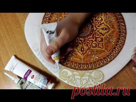 Роспись тарелки от Яны Шапран. Декоративная тарелка на стену