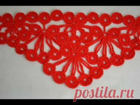 Узор для шали «Гроздья рябины» — Crochet by Ellej   Вязание крючком от Елены Кожухарь