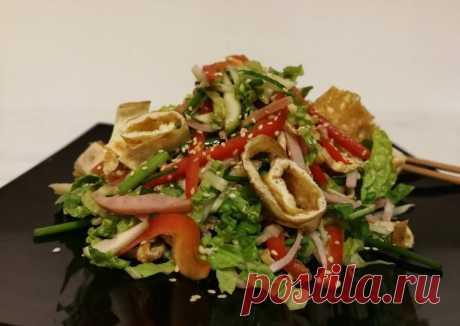 """Лёгкий, нежный японский салат """"Киото"""" 🇯 #чемпионатмира #япония - пошаговый рецепт с фото. Автор рецепта Юлия . - Cookpad"""