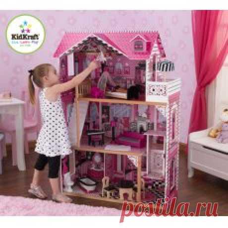 Кукольный домик с мебелью KidKraft Амелия - купить по лучшей цене в интернет-магазине детских игрушек SunnyToy!