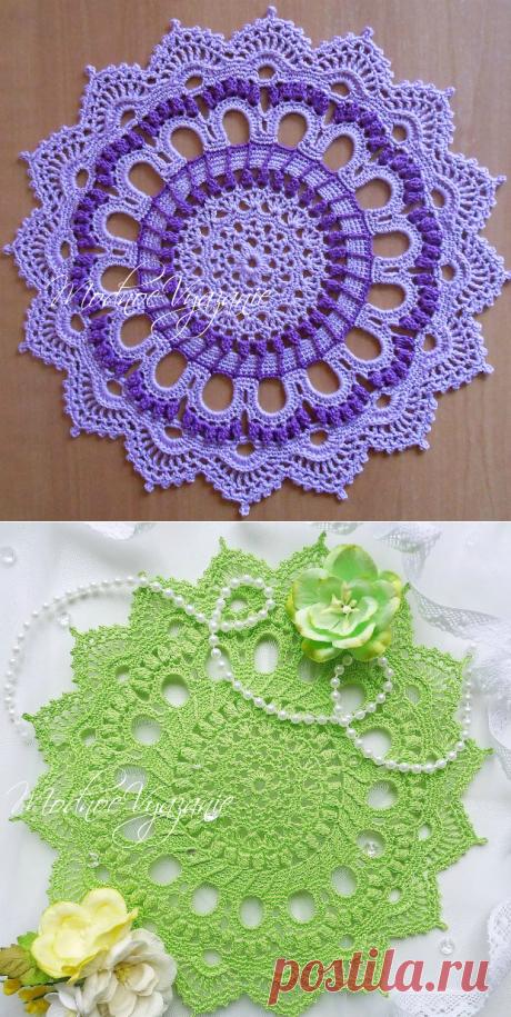 Описание вязания салфетки *Splendin* - Crochet.Modnoe Vyazanie ru.rom