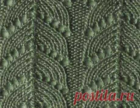 Ажурный узор для вязания спицами 11