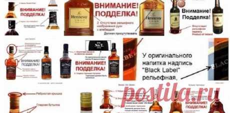Как отличить настоящий алкоголь от подделки☝ | KaifZona.Ru